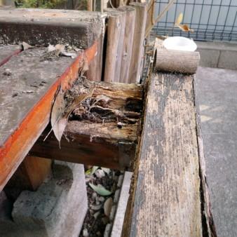 工事前:腐れが発生している。