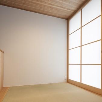 6:小間 障子越しの光が柔らかく空間を包む込む。